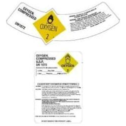 Labels - Cylinder Shoulder Labels, Dewar, Custom