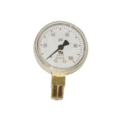 Pressure Gauge - Brass - Lower Mount - 2-1/2
