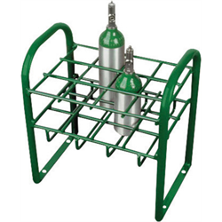 Medical Cylinder Cart, Holds 12 each M4/M6/B Size, Stationary