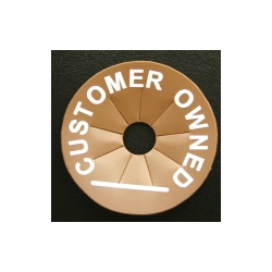 CLEARANCE - Round Collar - Customer Owned - Pk 50 - Mat'l: Brown / Prt: White