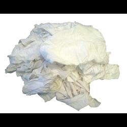 25# Box of White Clean T-Shirt Rags