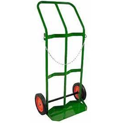 Dual Cylinder Cart, H & T Size, Solid Rubber Wheels