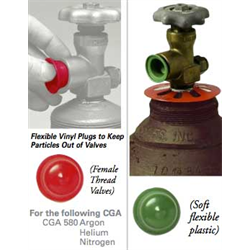 CGA 580 Inert Gas Soft Dust Covers and Plugs