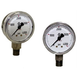 Pressure Gauges - Chrome Plated, 1 1/2 inch Dial