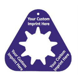 Custom Print Triangle Tags (C1)