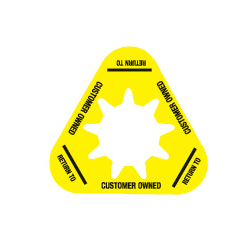 Collar - Customer Owned - Yellow - Triangle - Pack of 10