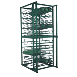 50 Cylinder Layered C, D & E Cylinder Rack w/Bolt Down Feet