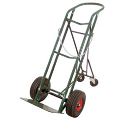 U Handle Cart, Rubber Wheels, Foldable