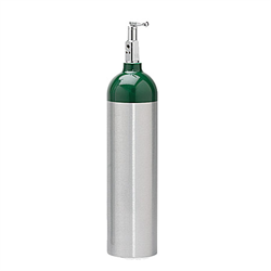 D Size Aluminum Cylinder with Toggle Post Valve