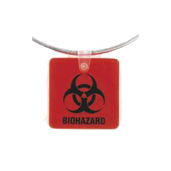 Bio Hazard Ring/Tag - Pack of 25