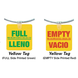 Pre-Printed FULL / EMPTY Ring/Tag - ENGLISH / SPANISH - Pack of 25