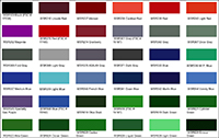 Cylinder Paint Color Chart