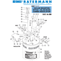 Taylor Wharton XL-45-50-55 Combo Regulator