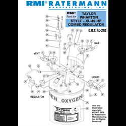 Taylor Wharton XL-45HP Combo Regulator