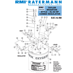 Taylor Wharton XL-50HP Combo Regulator