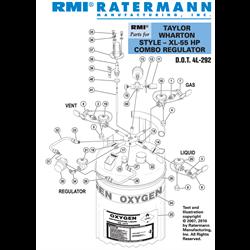 Taylor Wharton XL-55HP Combo Regulator