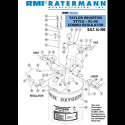 Taylor Wharton XL-65 Combo Regulator