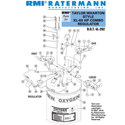 Taylor Wharton XL-65HP Combo Regulator