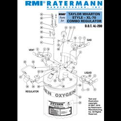 Taylor Wharton XL-70 Combo Regulator