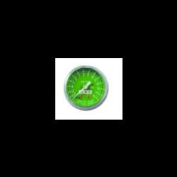 Gauge, O2, Green Face, White #'s, Back Port