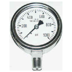 Pressure Gauge - Stainless Steel - Lower Mount