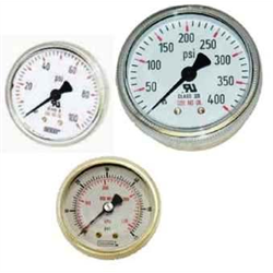Dewar Back Mount Pressure Gauges