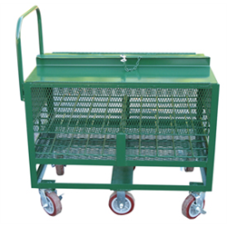 M6 Size D.O.T. Compliant Transport Cart (Holds 60 Cylinders)