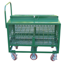 Additional Images for M6 Size D.O.T. Compliant Transport Cart (Holds 60 Cylinders)