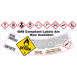 Custom Cylinder Shoulder Labels - Rolls of 500
