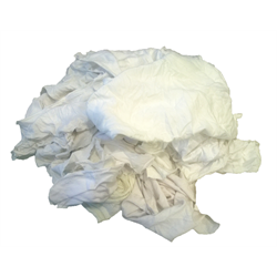 25# Box of White Clean T-Shirt Rags