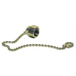 Dust Cap & Chain Assembly for Dewar CGA Fittings