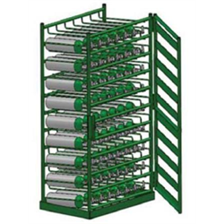 Medical M6 Cylinder Racks with Door