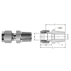 Tube Fitting Male NPT Connector