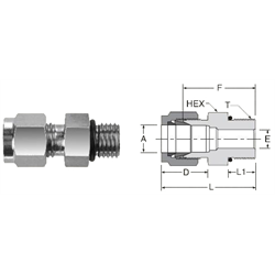 Tube Fitting SAE/MS Male Straight Thread Connector