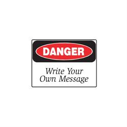 """DANGER Sign 10"""" x 7"""", Aluminum, (BLANK)"""