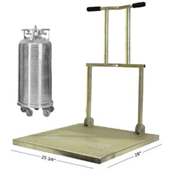 Round Base Dewar to Square Base Cart Retrofit
