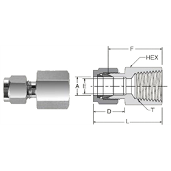 Tube Fitting Remale NPT Connector
