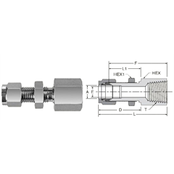 Tube Fitting Bulkhead Female NPT Connector