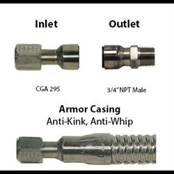 Cryogenic Hose 3/4 ID CGA 295 x 3/4 M NPT