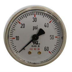 Pressure Gauge - Brass - Back Mount
