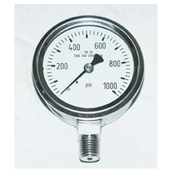 "Stainless Steel Oxygen Gauges 1-1/2"" Dial"